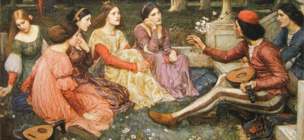 """Джон Уильям Уотерхаус - """"Декамерон"""", 1916"""