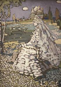 """Василий Кандинский - """"Невеста. Русская красавица"""", 1903"""