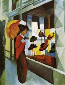 """Август Маке - """"Шляпный магазин"""", 1914"""