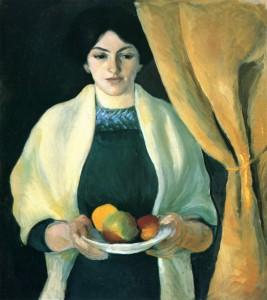 """Авгус Макке - """"Портрет с яблоками"""", 1909"""