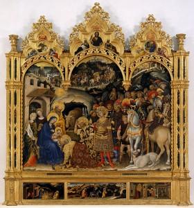 "Джентиле да Фабриано - ""Поклонение волхвов"", 1423"
