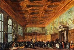 """Франческо Гварди - """"Зал Большого совета во Дворце дожей"""", 1775-1780"""