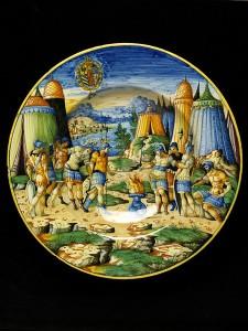 """Блюдо """"Муций Сцевола перед королем Ларсом Порсеной"""", 1565-1570 гг."""