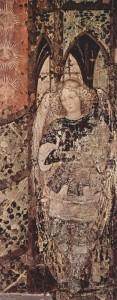 Пизанелло - фреска-декорация к гробнице Николо ди Бринцони, 1420-е