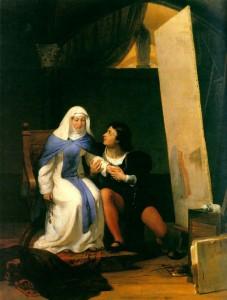 """Поль Деларош - """"Филиппо Липпи признается в любви своей натурщице"""", 1822"""