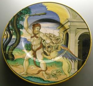 """Николо да Урбино (Пеллипарио) - """"Геракл избивает Лернейскую гидру"""", 1525-1532 гг."""