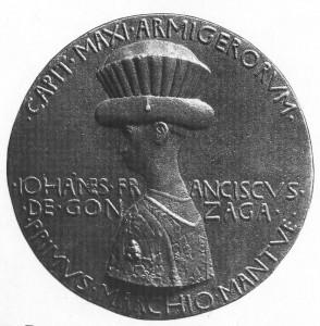Пизанелло - медаль с портретом Джанфранческо Гонзаги