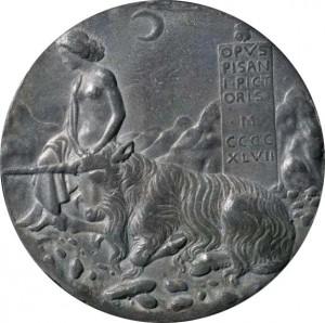 Пизанелло - реверс медали Чечилии Гонзага