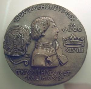Пизанелло - медаль с портретом Альфонсо V Арагонского
