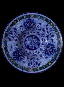 Блюдо с росписью «по синему», около 1520г.