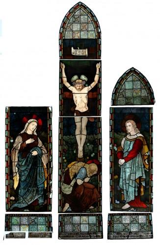 """""""Хитон, Батлер энд Бэйн"""" - """"Распятие"""", витраж в соборе Св. Иоанна Евангелиста в Окли, Гилфорд, 1870"""
