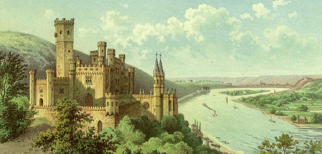 """Александр Дункер - """"Замок Штольценфельс"""", 1860"""