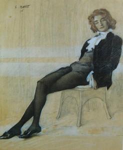 Леон Бакст - портрет Зинаиды Гиппиус, 1906