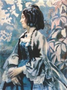 """Виктор Борисов-Мусатов - """"Портрет дамы"""", 1902"""
