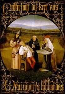 """Иероним Босх - """"Извлечение камня глупости"""", ок. 1490 г., музей Прадо (Испания)"""