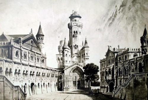 Христофер Янк - эскиз Нойшванштайна, 1871