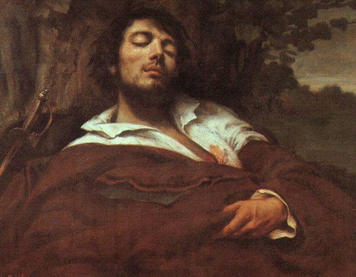 "Гюстав Курбе - ""Раненый"", 1844-1854 гг., музей Д'Орсэ (Франция)"