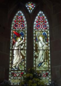 """«Хардмэн энд ко» - """"Благовещение"""", витраж в соборе Св.Марии в Клифтоне, 2-я четверть XIX в."""