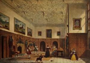 "Джордж Нэш - ""Интерьер Пэрхэм Парка конца XVI века"", 1840"