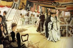 "Джеймс Тиссо – ""На дирижабле"", 1874"