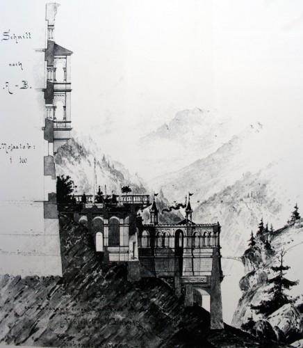 Проект террасы замка Нойшванштайн (не реализован)