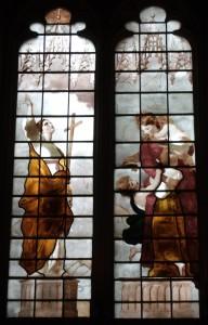 """Джошуа Рейнолдс - """"Вера и Благотворительность"""", витражи в Нью-колледже в Оксфорде, 1785"""