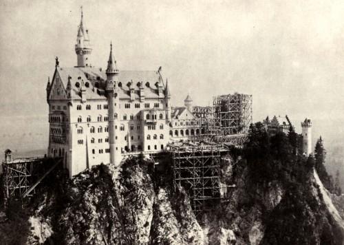 Строительство Нойшванштайна, фото 1885