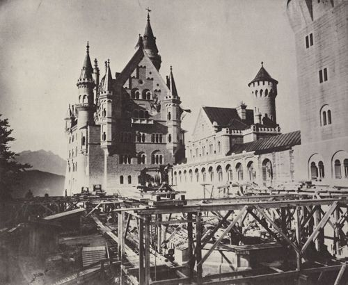 Строительство Нойшванштайна, фото 1886