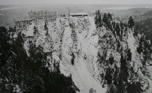 Строительство Нойшванштайна, фото 1869 г.