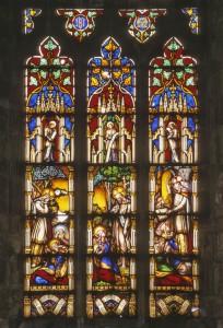 """Уильям Уоррингтон - """"Воскрешение дочери Иаира"""", витраж в храме Св.Павла в Коббити, 1856"""