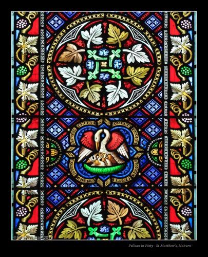 Уильям Уэйлс - фрагмент витража в соборе Св.Матвея в Нэберне, 1839