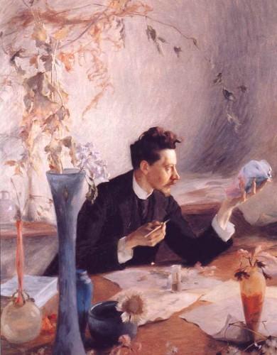 Виктор Пруве - портрет Эмиля Галле за работой, 1892