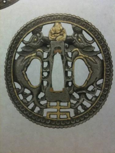 Цуба с драконами, стиль намбан, XVIII век
