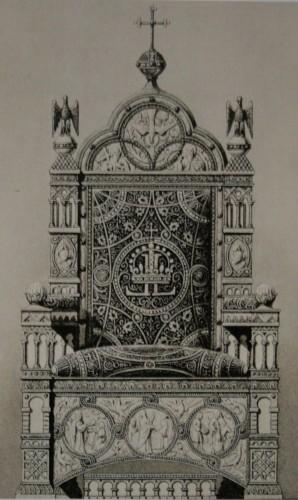 Проект королевского трона в тронном зале Нойшванштайна