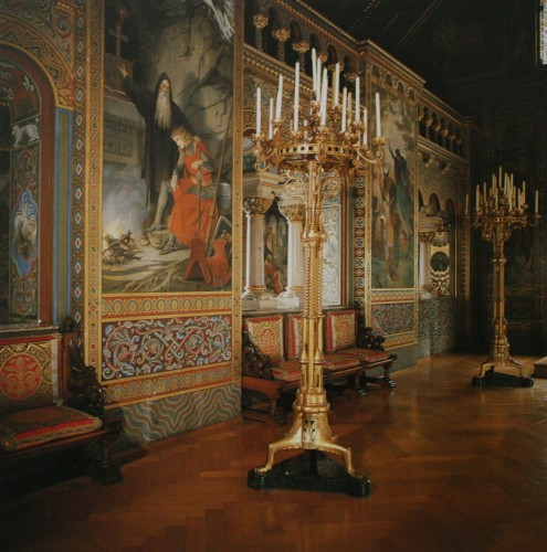 Зал певчих - стена с аркадой