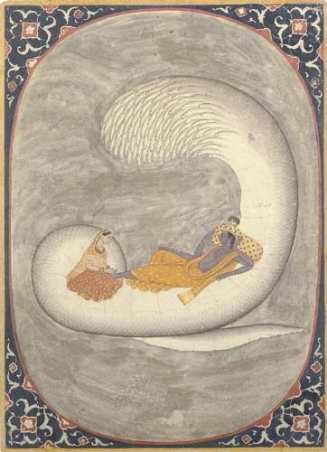 """""""Вишну, отдыхающий на Шеше со своей женой Лакшми"""", XVIII век"""