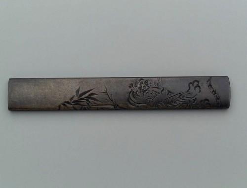 Ёкоя Сомин - козука с изображением тигра и бамбука, кон. XVIII-нач. XIX вв.