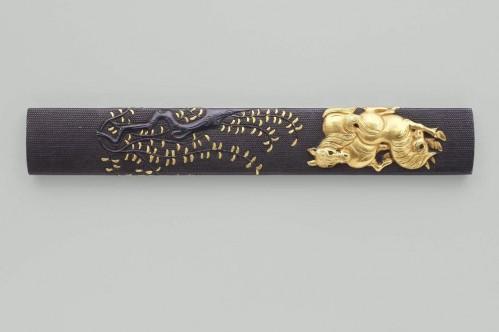 Ёкоя Соё - козука с изображением коня и ивы, 1 треть XIX в.