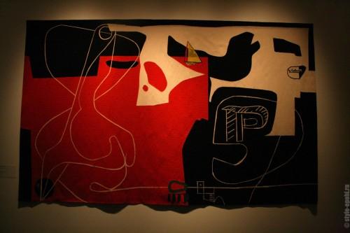 """Ле Корбюзье - гобелен """"Жребий брошен"""", 1960"""