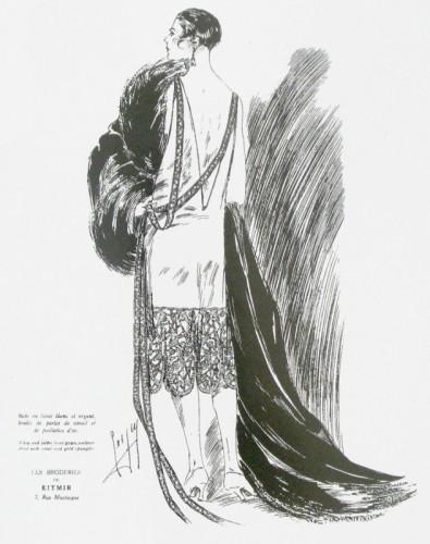Платье модного дома «Китмир» (дом русской моды, открытый в Париже княгиней М. П. Романовой)