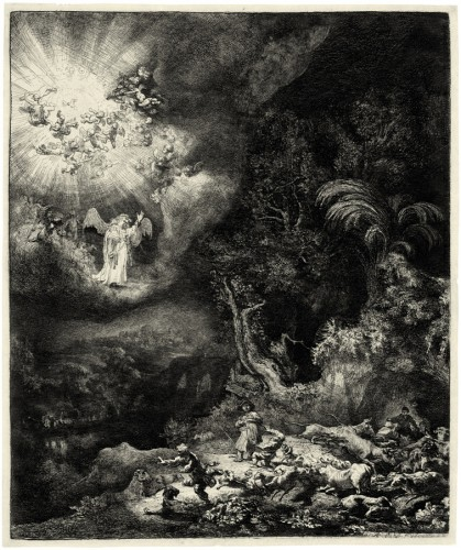 "Рембрандт Харменс ван Рейн - ""Благовестие пастухам"""