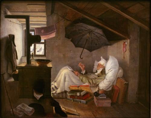 """Карл Шпицвег - """"Бедный поэт"""", 1839"""