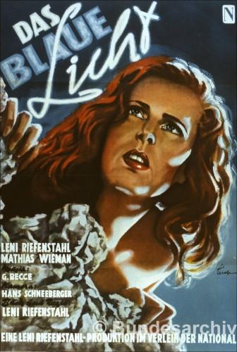 """Постер фильма """"Голубой свет"""", реж. Лени Рифешталь, 1931"""