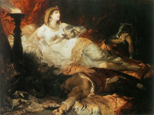 """Ганс Макарт - """"Смерть Клеопатры"""", 1875-76"""