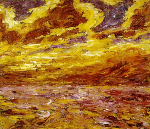 """Эмиль Нольде - """"Осеннее море"""", 1910 г."""