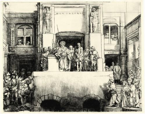 """Рембрандт Харменс ван Рейн - """"Христос перед народом"""""""