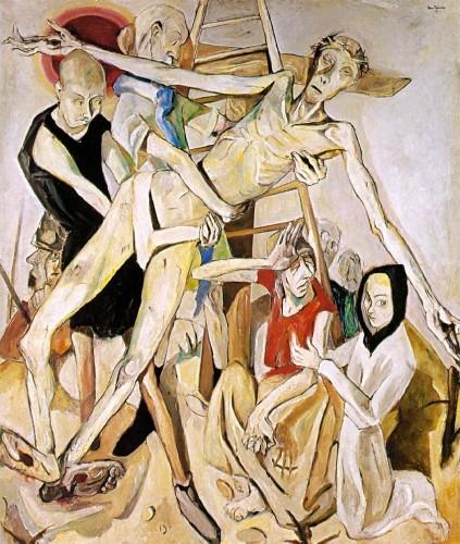 """Макс Бекман - """"Снятие с креста"""", 1917 г."""