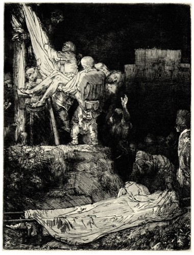 """Рембрандт Харменс ван Рейн - """"Снятие с креста при свете факела"""""""
