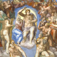 """Микеланджело - """"Страшный суд"""", фрагмент, 1534-41"""