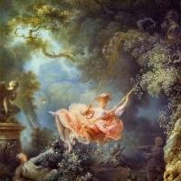 """Оноре Фрагонар - """"Счастливые возможности качелей"""", 1767"""